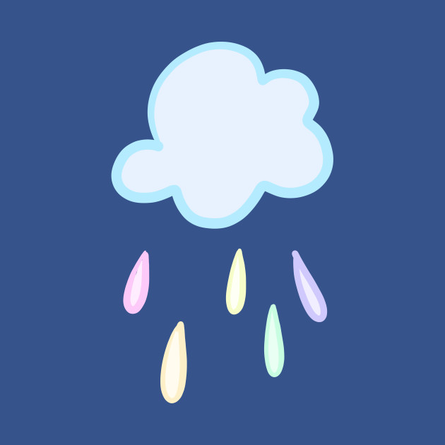 Pastel rain clouds clipart image library download Pastel Rainbow Rain Cloud image library download