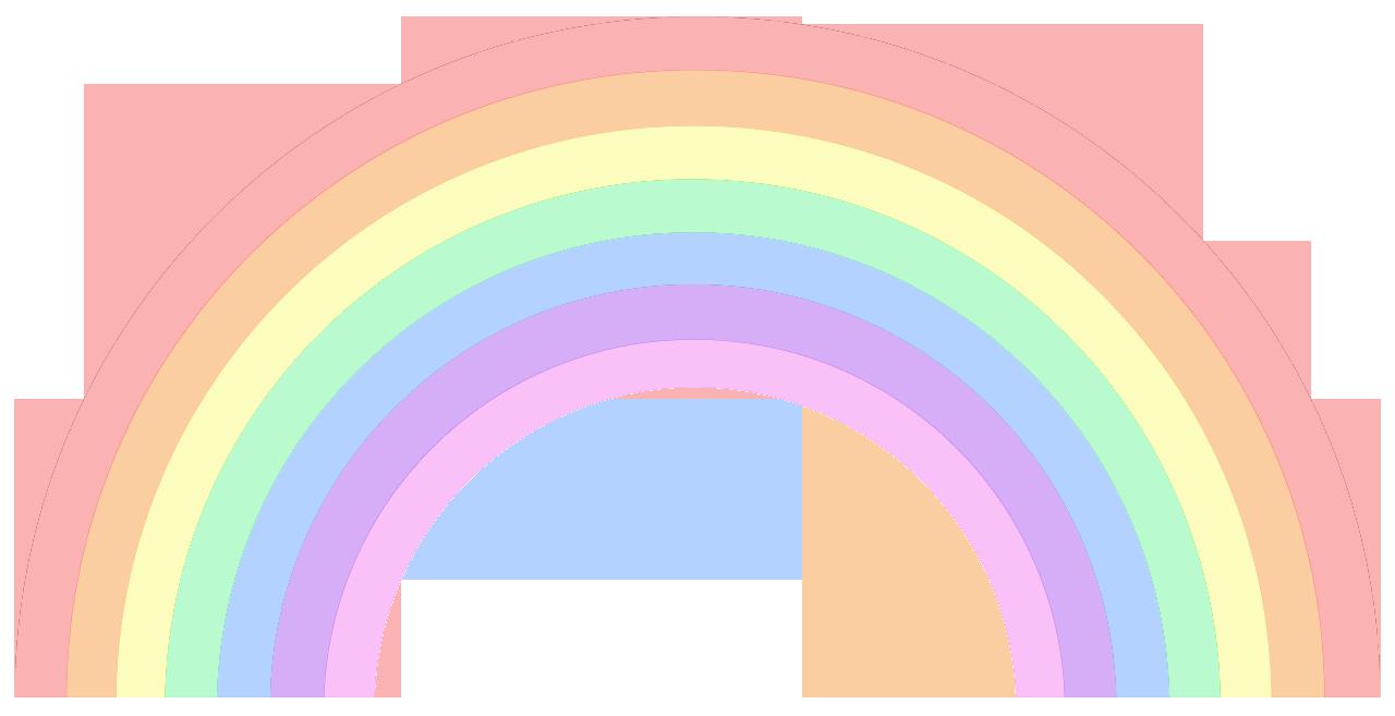 Pastel rainbow clipart