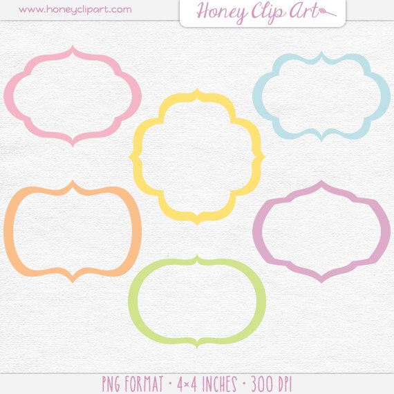 Pastel rainbow clipart picture black and white download Pastel Rainbow Frame Clipart Pastel Border Elements picture black and white download