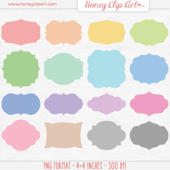 Pastel rainbow clipart png library download Colorful Pastel Digital Label Clipart Pastel Rainbow Clip png library download