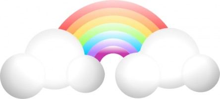 Pastel rainbow clipart vector black and white library Rainbow Clip Art to Download - dbclipart.com vector black and white library