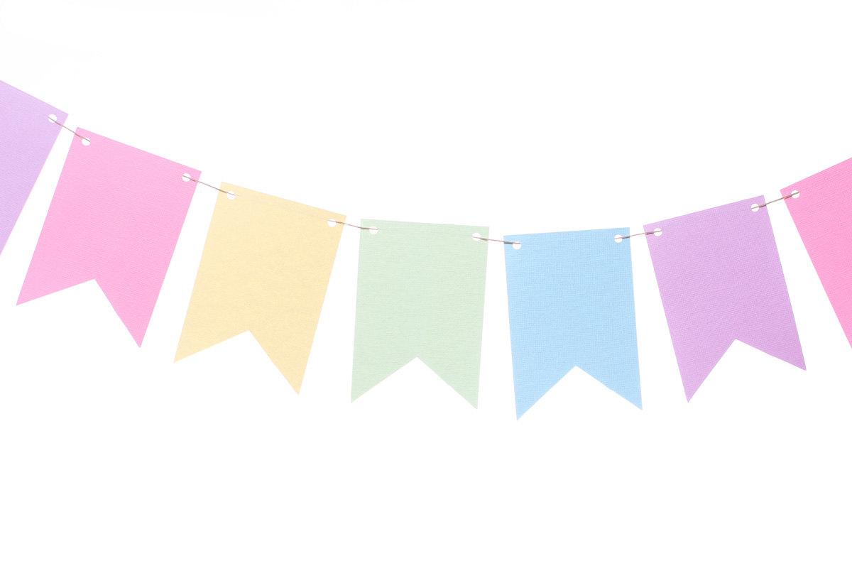 Pastel rainbow clipart clip black and white Rainbow flag banner clipart happy birthday - ClipartFest clip black and white