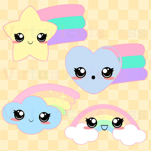 Pastel rainbow clipart png library library Kawaii Rainbows Clipart - Cute Pastel Rainbows, Kawaii Planner ... png library library