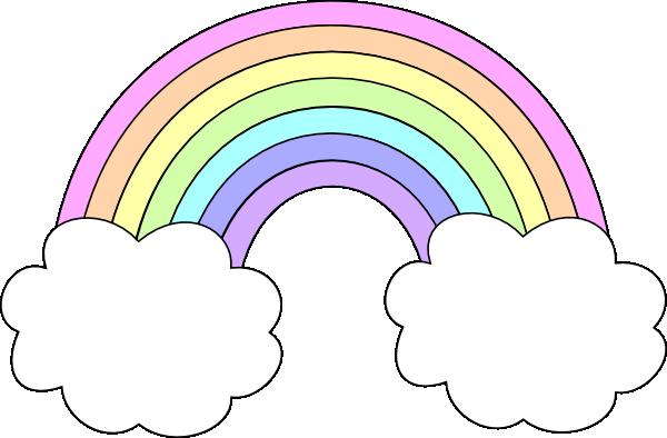 Pastel rainbow clipart stock Pastel rainbow clipart - ClipartFest stock