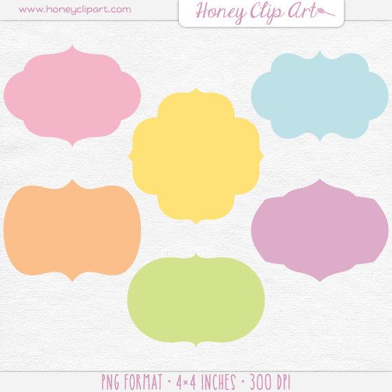 Pastel rainbow clipart jpg stock Pastel Rainbow Label Clipart Printable Party Tags Retro jpg stock