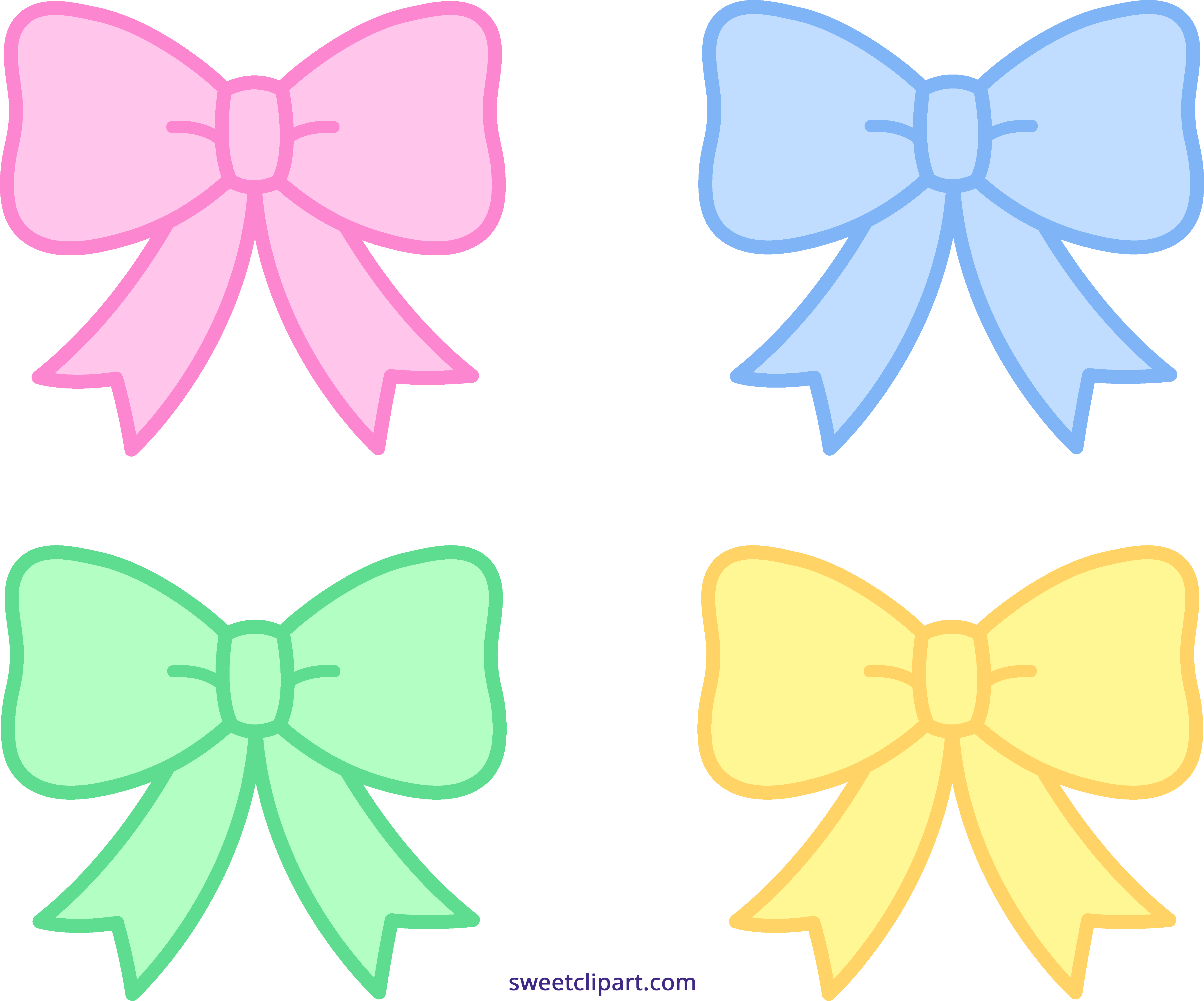 Soda with a crown clipart png royalty free library Cute Pastel Bows Ribbons Clipart - Sweet Clip Art png royalty free library