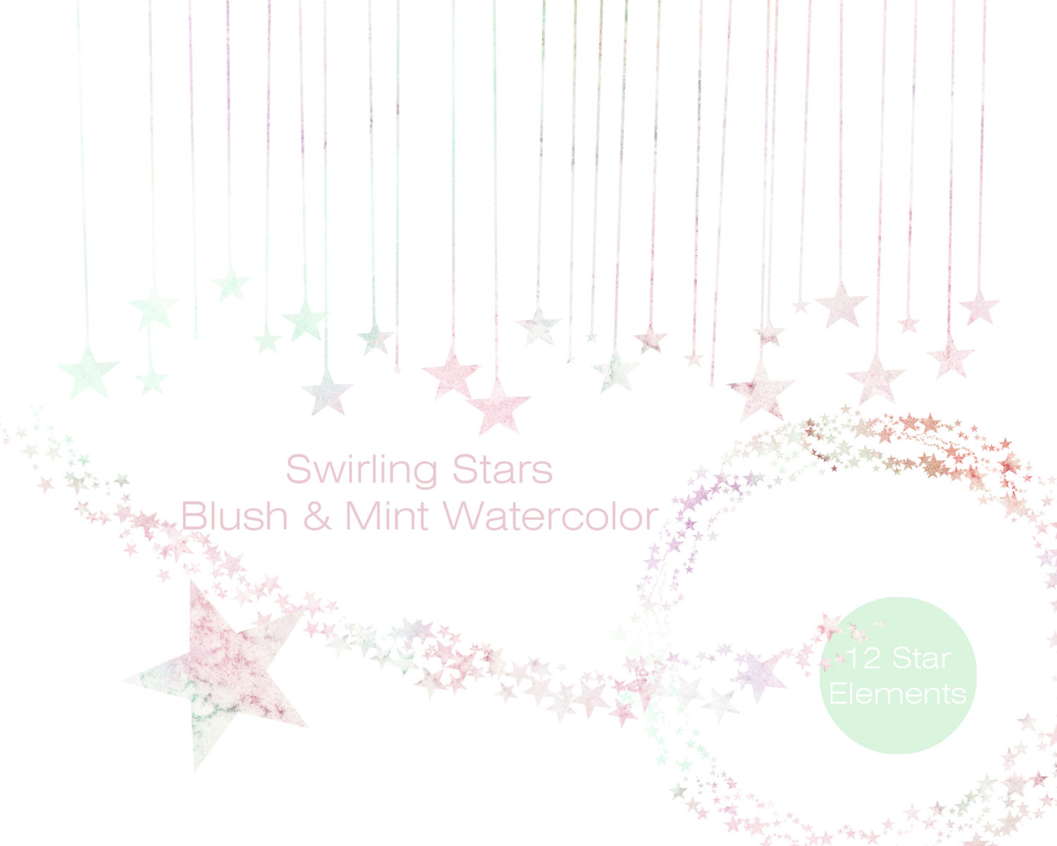 Pastel star clipart picture PASTEL RAINBOW Watercolor STAR Clipart Commercial Use Clipart ... picture