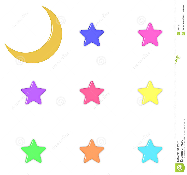 Pastel star clipart clip transparent Glass Moon And Pastel Stars Stock Image - Image: 1773061 clip transparent