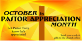 Pastor appreciation month clip art graphic freeuse download Church Pastor Appreciation Banners | eSigns graphic freeuse download