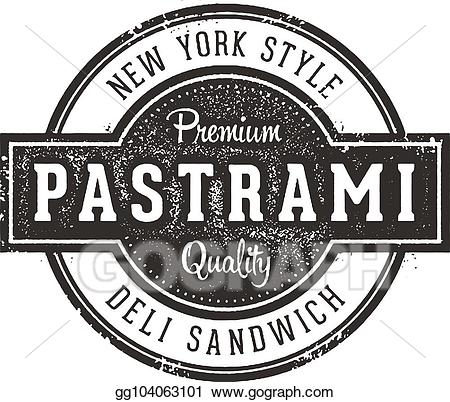 Pastrami clipart image library download Vector Art - New york pastrami sandwich sign. Clipart ... image library download