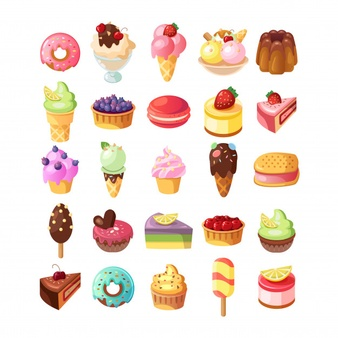 Pastries of all types with faces clipart graphic royalty free Dessert Vectors, Photos and PSD files | Free Download graphic royalty free