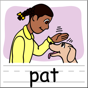 Pat clipart graphic library stock Clip Art: Basic Words: Pat Color Labeled I abcteach.com ... graphic library stock