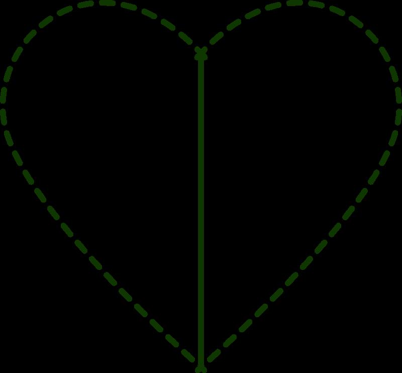 Patchwork heart clipart
