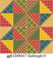 Patchwork quilt clipart jpg free Quilt Clip Art - Royalty Free - GoGraph jpg free