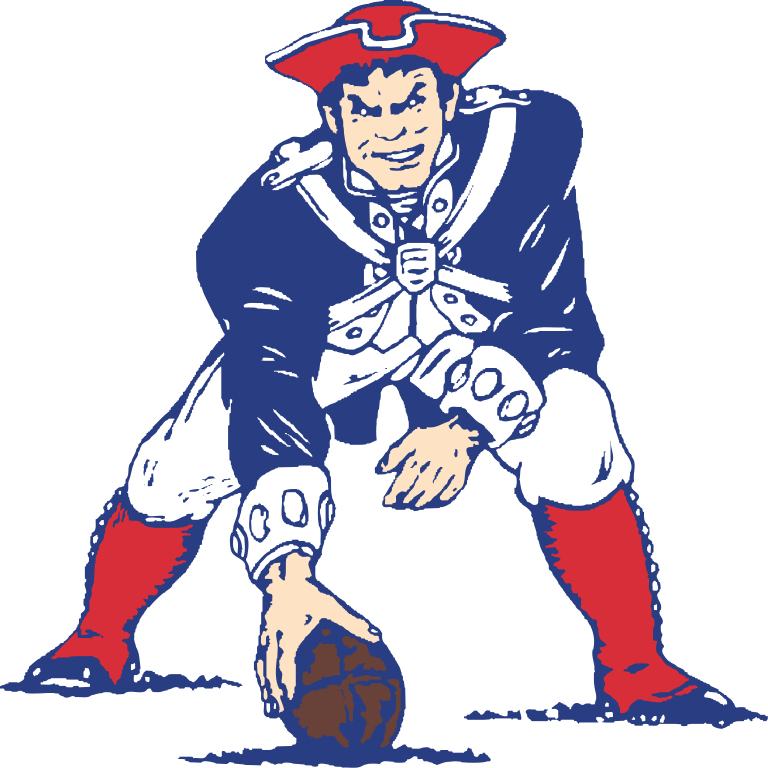 Patriot football clipart picture black and white library New England Patriots Vintage Logo transparent PNG - StickPNG picture black and white library