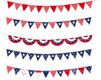 Patriotic bunting clipart clipart black and white Free Patriotic Bunting Cliparts, Download Free Clip Art ... clipart black and white