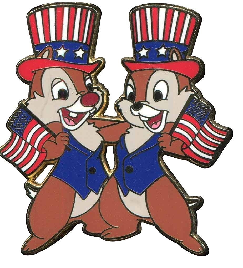 Patriotic disney clipart clipart free Amazon.com: Disney Pin Patriotic Chip \'n\' Dale - Flags and ... clipart free