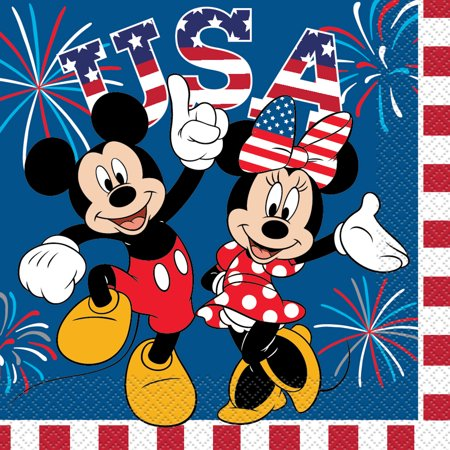 Patriotic disney clipart png black and white stock Patriotic Minnie Mouse & Mickey Mouse Paper Luncheon Napkins ... png black and white stock