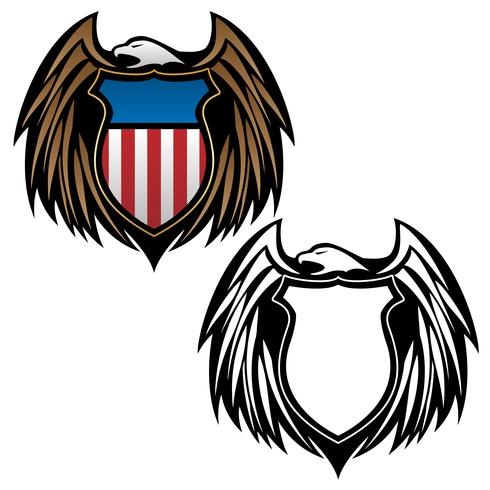 Patriotic support clipart jpg library download Patriotic eagle with shield emblem vector image - Download ... jpg library download