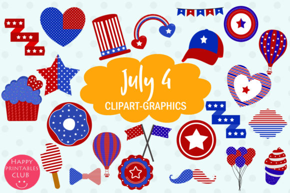 Patriotic support clipart clip free stock July 4 Patriotic Clipart Graphics clip free stock