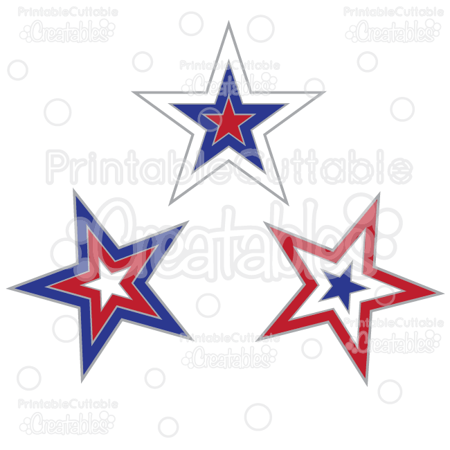 Patriotic support clipart jpg library Patriotic Stars Free SVG Cut Files & Clipart jpg library