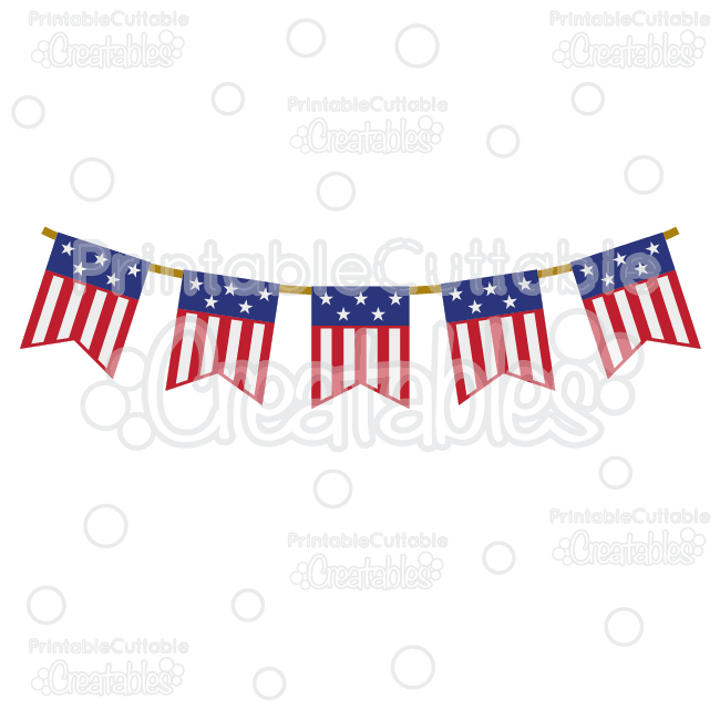 Patriotic support clipart clip royalty free Patriotic Flag Banner Free SVG Cutting File & Clipart clip royalty free