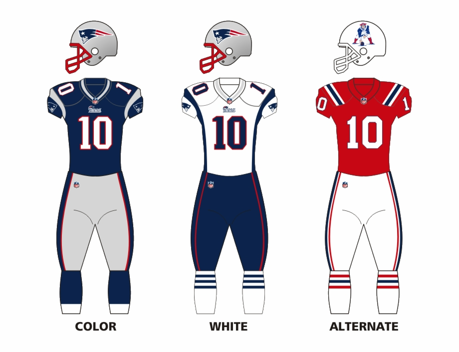 Patriots jersey clipart clip art black and white stock New England Joins The Color Rush - Patriots Home Vs Away ... clip art black and white stock