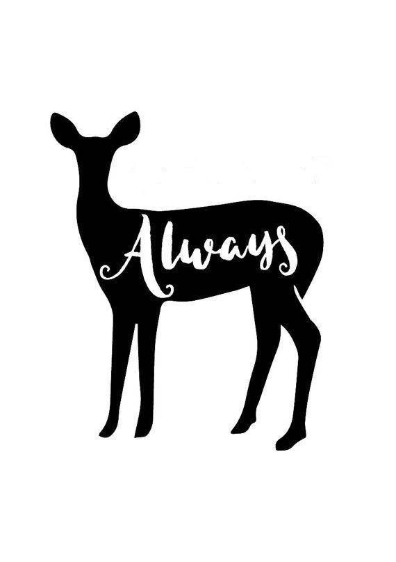 Patronus clipart png freeuse library Always Doe Vinyl Decal, Harry Potter, Patronus, Laptop Decal ... png freeuse library
