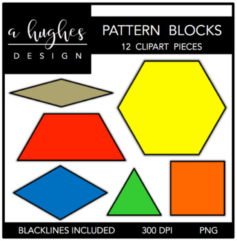 Pattern block clipart clipart freeuse library Pattern Blocks Clipart {A Hughes Design} by Ashley Hughes ... clipart freeuse library
