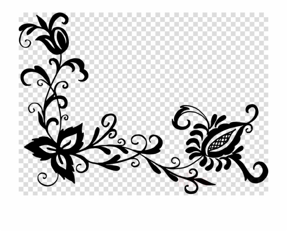 Pattern designs clipart image library Black Flower Pattern Png Clipart Flower Designs Floral ... image library