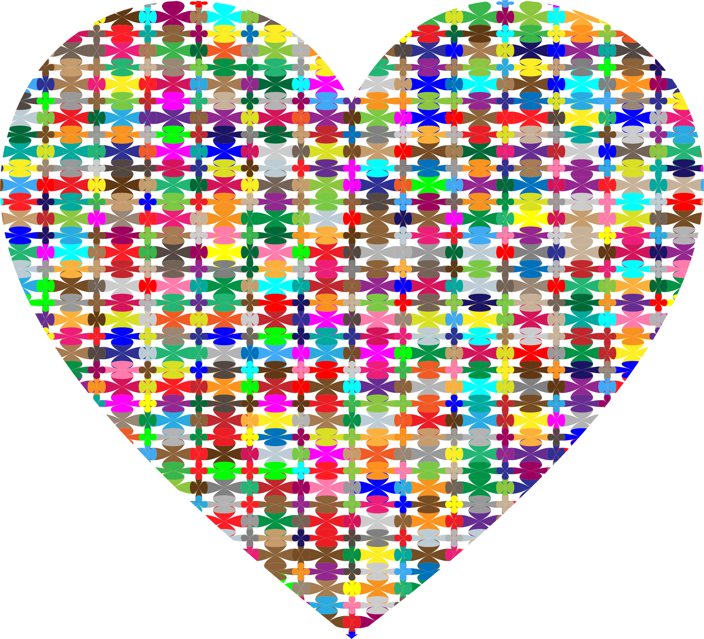 Pattern heart clipart banner transparent stock Clipart - Colorful Pattern Heart banner transparent stock