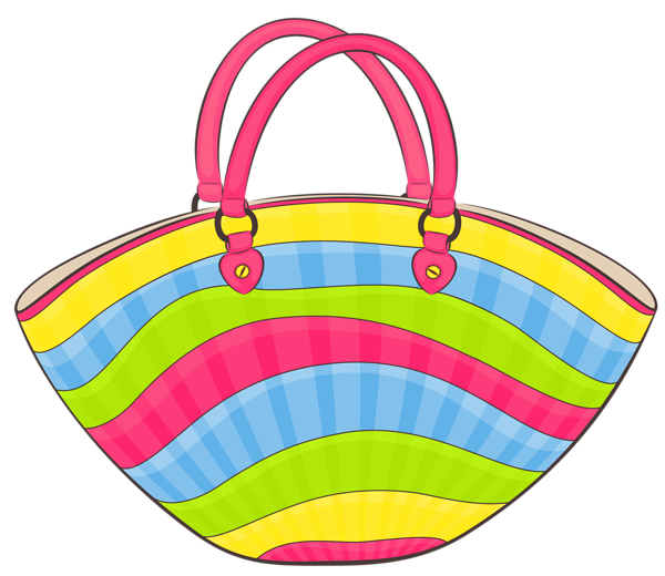 Pattern of book bags clipart vector transparent library Transparent Beach Bag PNG Clipart | Beach:Print | Pinterest | Beach ... vector transparent library