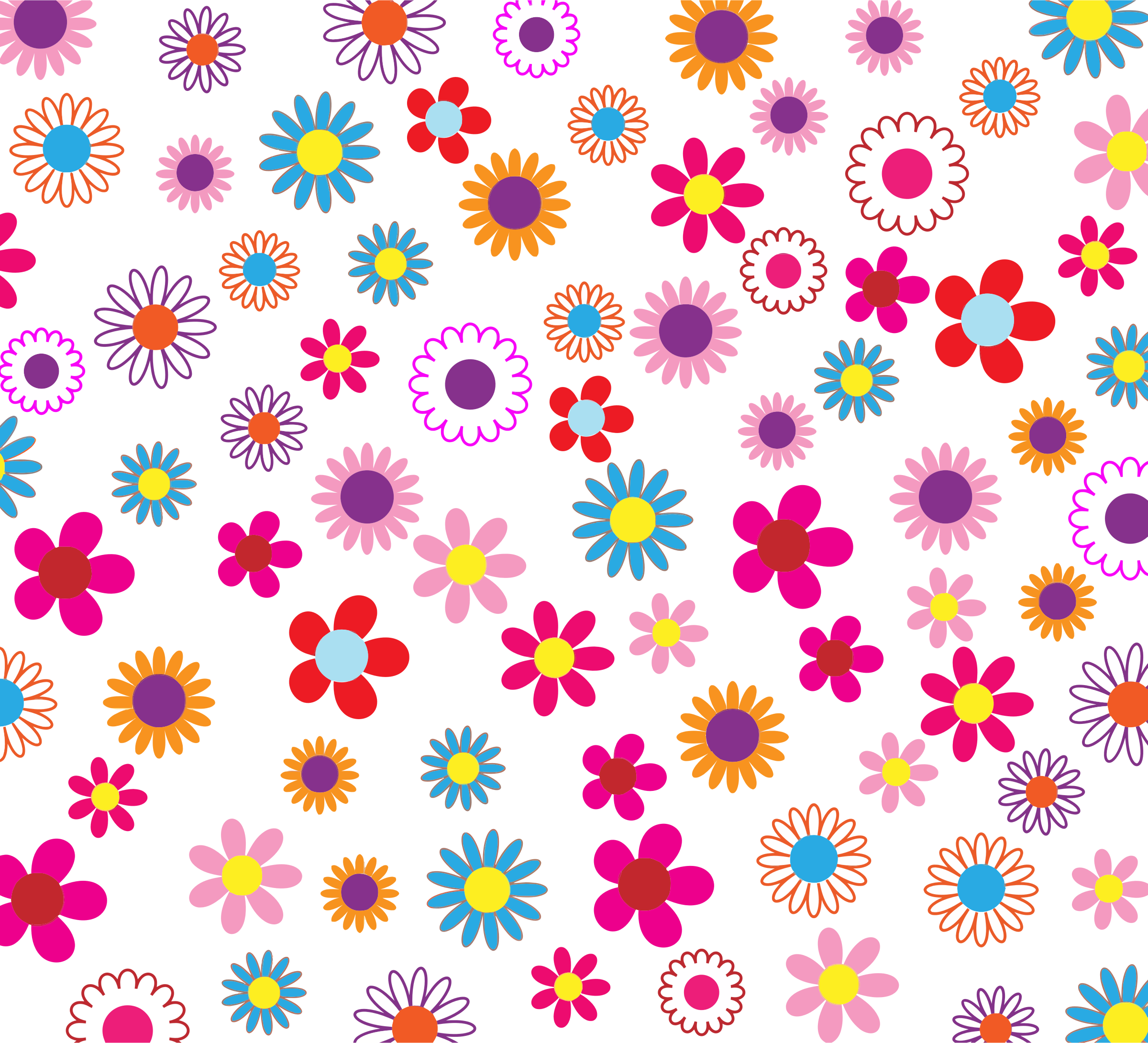 Patterned apple clipart royalty free stock Colorful Floral Pattern Background by @GDJ, PDP, on @openclipart ... royalty free stock