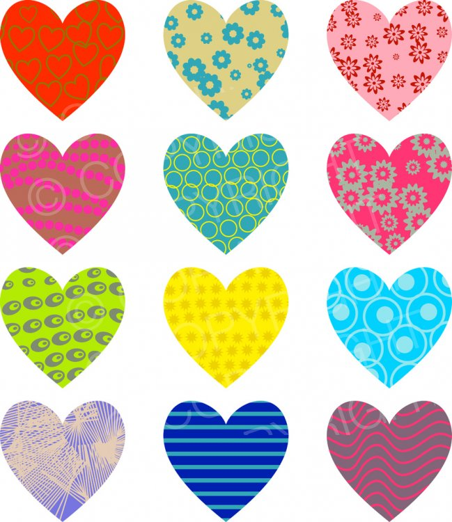 Patterned clipart banner transparent stock Patterned Love Hearts - Holiday Clip Art – Prawny Clipart ... banner transparent stock