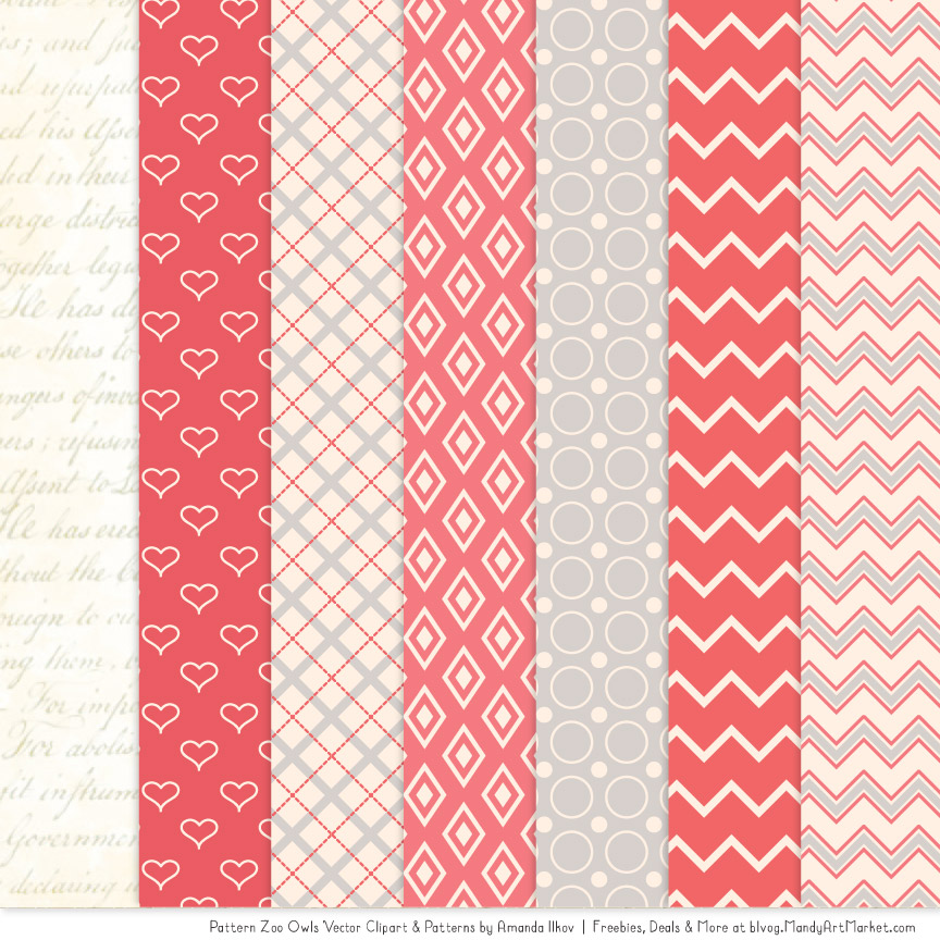 Patterned clipart clip art transparent stock Coral Patterned Owl Clipart & Patterns clip art transparent stock
