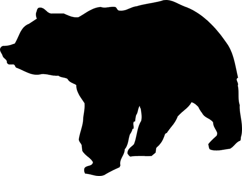 Patterns for clipart bear silhouette