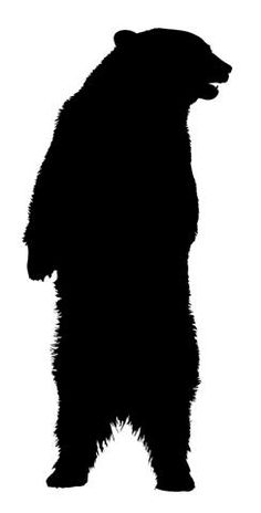 Patterns for clipart bear silhouette jpg library Grizzly bear silhouette clipart - ClipartFest jpg library