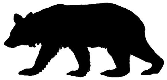 Patterns for clipart bear silhouette picture freeuse stock Black Bear Clipart - Clipart Kid picture freeuse stock