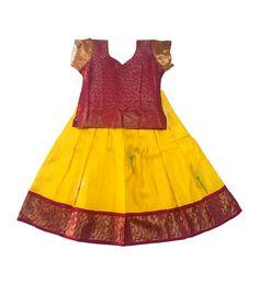 Pattupavadai clipart banner free stock 80 Best Pattu Pavadai images in 2019   Kids wear, Party wear ... banner free stock