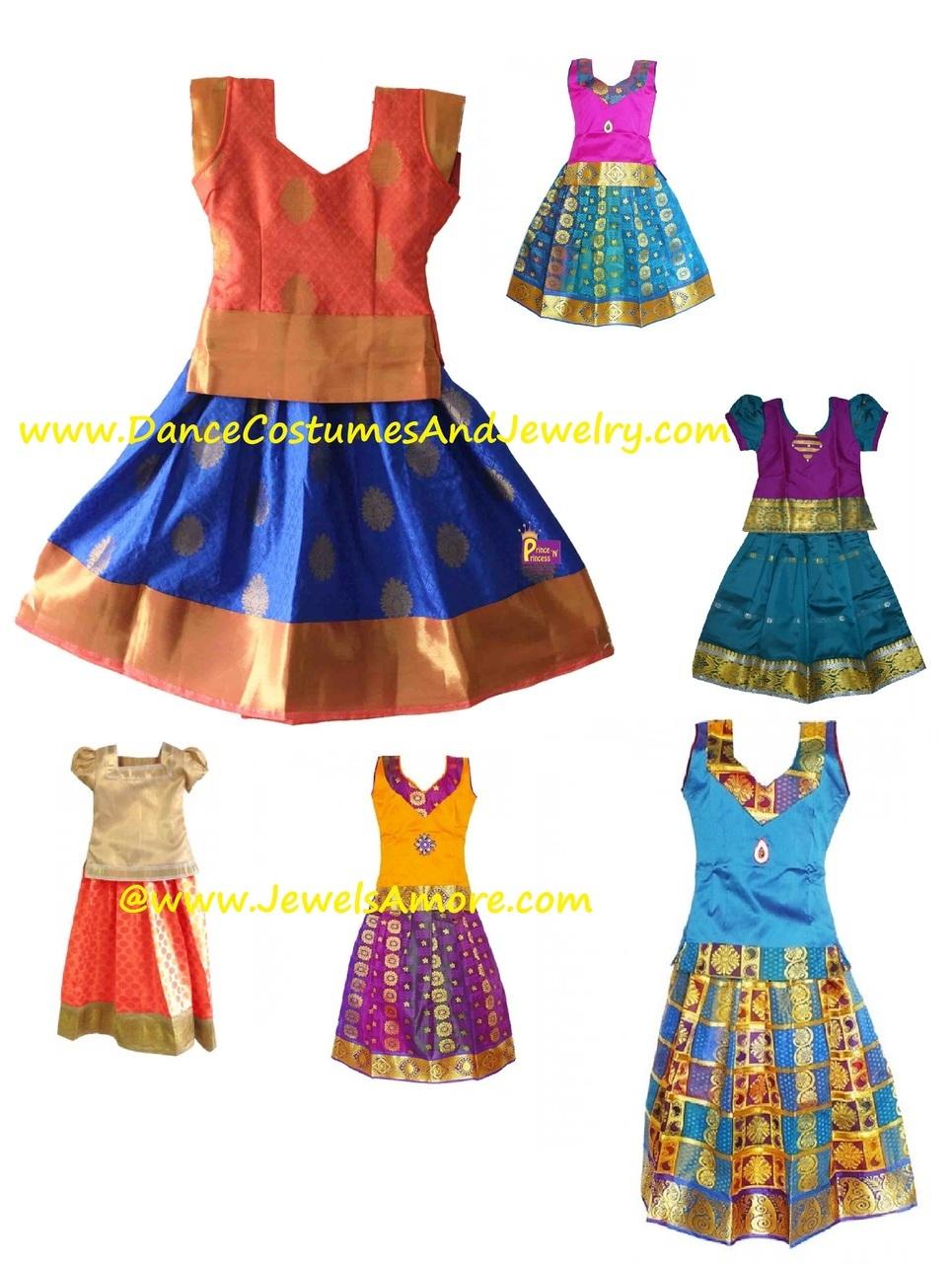 Pattupavadai clipart picture transparent library Custom Stitch Pattu Pavadai and Blouse for girls up to 5 Yrs picture transparent library