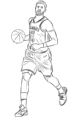Pauk george clipart picture transparent library Paul George coloring page | Free Printable Coloring Pages picture transparent library