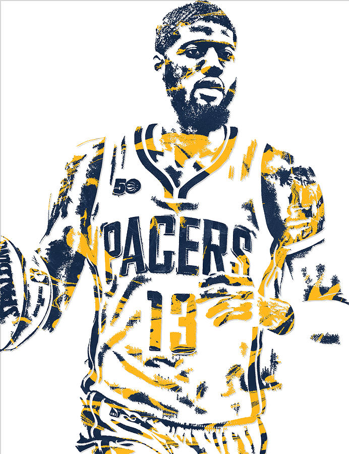 Pauk george clipart clip art black and white stock Paul George Indiana Pacers Pixel Art 7 clip art black and white stock
