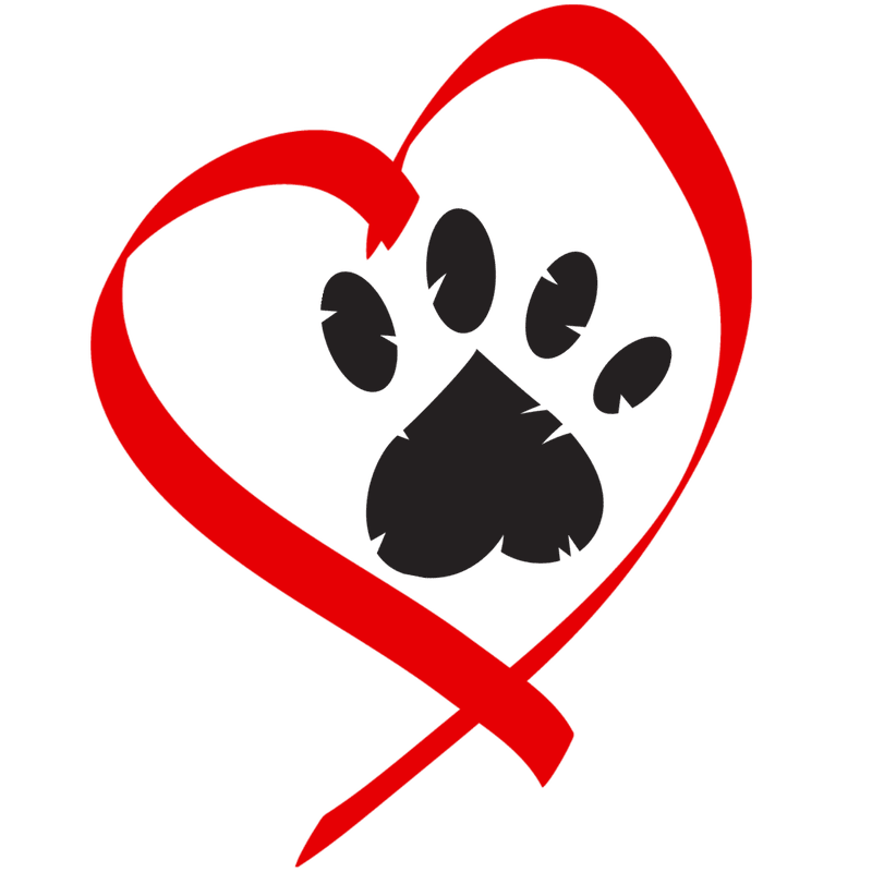 Paw with heart clipart