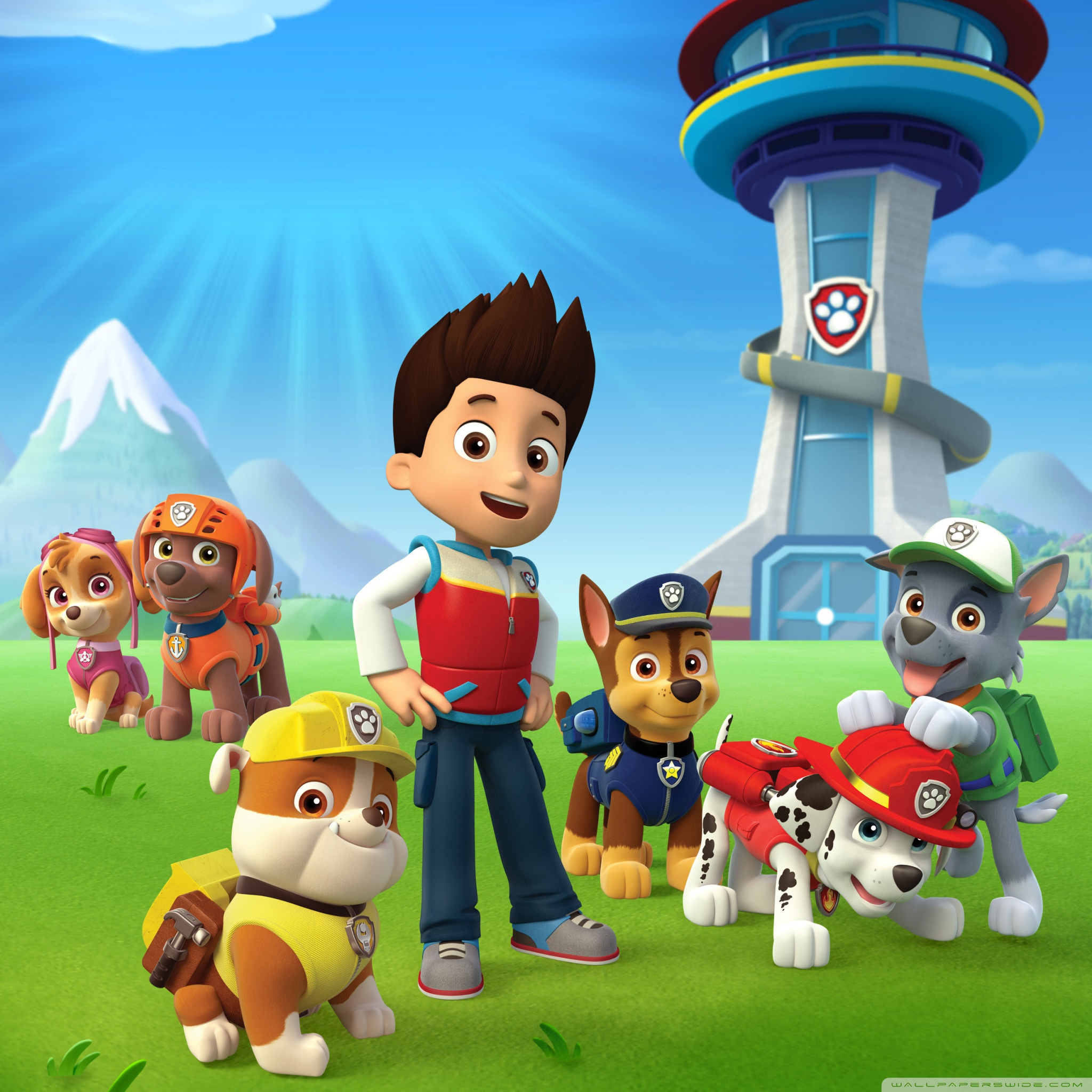 Paw patrol background clipart