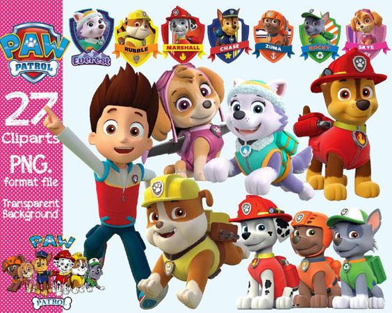 Paw patrol background clipart clip royalty free stock Paw Patrol Clipart transparent background by ANYTHINGINCARDS | Paw ... clip royalty free stock