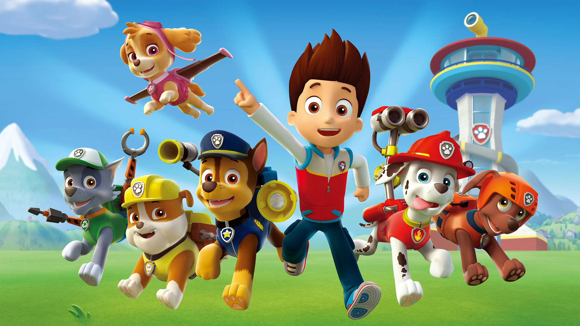 Paw patrol background clipart graphic free library paw patrol wallpaper graphic free library