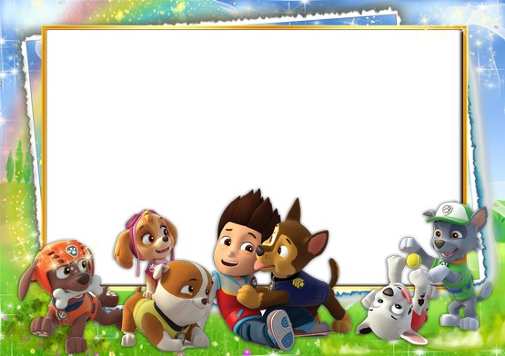Paw patrol background clipart picture black and white library Download Photoshop frame psd & png format for baby pictures with ... picture black and white library