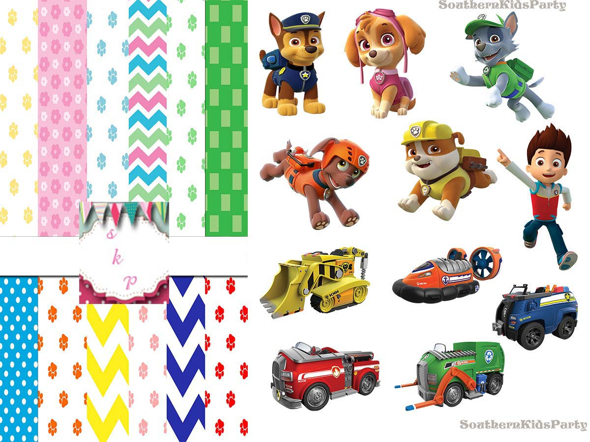 Paw patrol background clipart graphic free stock PAW PATROL - 14 papers + 50 | Clipart Panda - Free Clipart Images graphic free stock