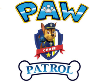 Paw patrol badge clip art clip black and white download Paw patrol clipart chase - ClipartFest clip black and white download