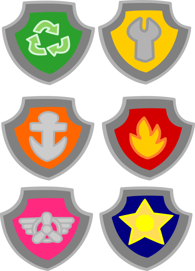 Paw patrol badges clipart graphic black and white stock Crafting with Meek: Paw Patrol - Badges | Cutting files | Pinterest ... graphic black and white stock